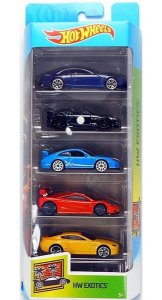Hot Wheels Conjunto Com 5 Carrinhos Exotics GHP50
