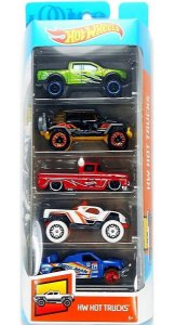 Hot Wheels Conjunto Com 5 Carrinhos Hot Trucks GHP51