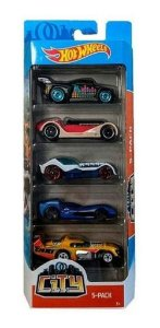 Hot Wheels Pacote Com 5 Carrinhos City GHP56 Mattel
