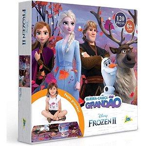 Quebra Cabeça Frozen II Grandão 120 Peças Grandes Toyster