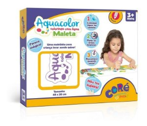 Kit Educativo Maleta Aquacolor Colorir Com Agua - Toyster