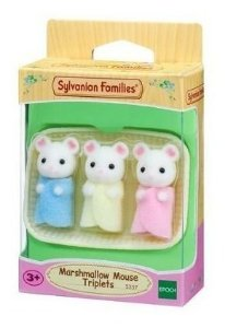 Sylvanian Families Trigêmeos Rato Marshmallow Epoch 5337