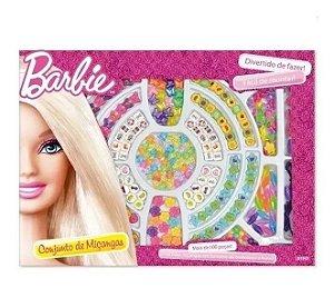 Conjunto De Miçanga Da Barbie Com 100 Peças  Fun F0015-2c
