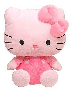 Pelúcia Ty Beanie Babies Hello Kitty Rosa  TY DTC