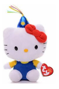 Pelúcia Hello Kitty Festa Beanie Babies- Dtc Ty Original