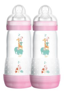 Mamadeiras Easy Start Dupla 320ml Anticólica Rosa - Mam