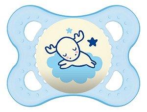 Chupeta Mam Night 0-6 Meses - Embalagem Unitária Azul Bebê