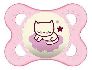 Chupeta Mam Night 0-6 Meses - Embalagem Unitária Rosa