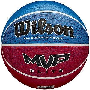 Bola De Basquete Wilson  Mvp Elite Azul E Vermelha