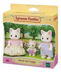 Sylvanian Families Familia Dos Gatos Primavera Da Epoch 5373