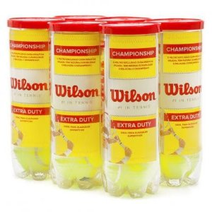 Kit c/ 6 tubos Bola Tênis Wilson Championship Extra Duty 3un