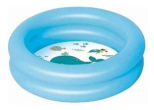 Banheira Piscina Inflável Infantil / Baby 28 Litros Azul Mor