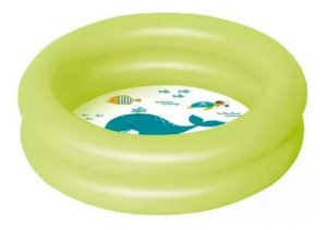 Piscina Banheira Infantil Inflável Verde 28 Litros Mor