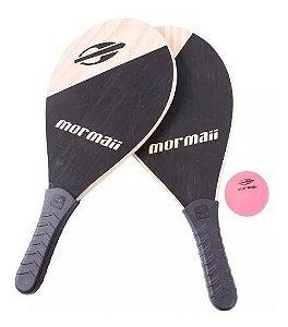 Kit Frescobol 2 Raquetes De Praia E 1 Bola P/ Jogar  Mormaii