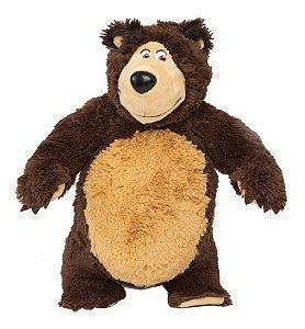 Pelúcia Urso Com Som - Masha E O Urso Estrela