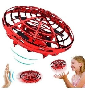 Brinquedo Drone Ufo Vermelho  Candide 1104