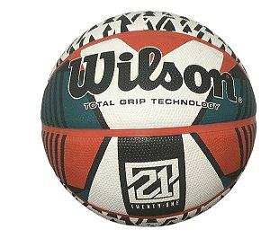 Bola de Basquete 21 Series Wilson Branca e Verde