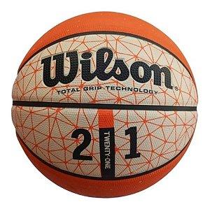 Bola De Basquete Wilson 21 Series Laranja e Branca