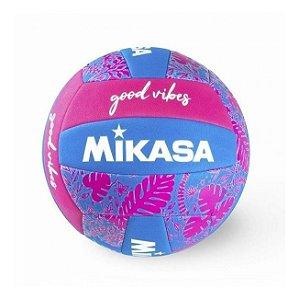 Bola De Voleibol Good Vibes Rosa / Azul  Mikasa