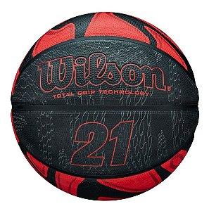 Bola De Basquete Wilson  21 Series Vermelha e Preta