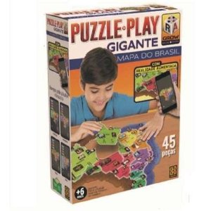 Puzzle Play Gigante Mapa Do Brasil 45 Peças 03635 - Grow