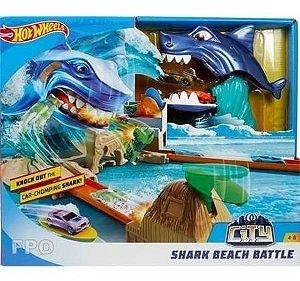 Pista Hot Wheels City Ataque Tubarão Mattel  Fnb21
