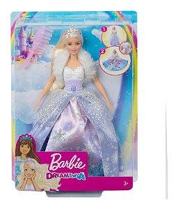 Boneca Barbie Fantasia Princesa Vestido Mágico Mattel Gkh26