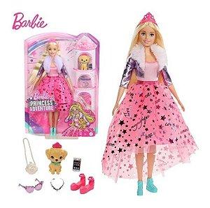 Boneca Barbie Princess Adventure Deluxe Loira Gml76 - Mattel