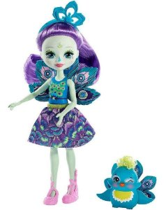 Enchantimals Boneca E Bichinho  Patter Peacock E Flap Mattel