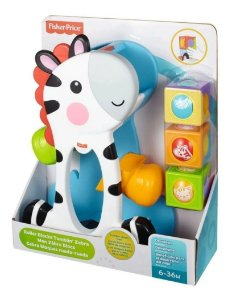 Fisher Price Zebra Com Blocos Surpresa  - Mattel
