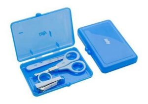 Kit Manicure Infantil Com Estojo  Azul Lolly