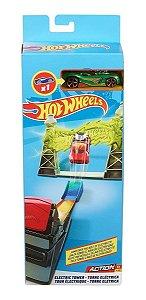 Hot Wheels Acrobacias Torre Elétrica E Carrinho Mattel Fwm85
