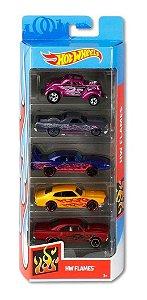 Hot Wheels  Hw Flames Pacote C/05 Carros Ghp60