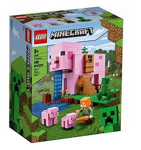 Lego Minecraft A Casa Do Porco Pig House 490 Peças 21170
