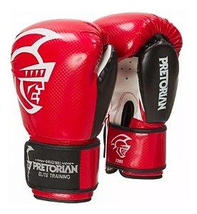 Luva Boxe\ Muay Thai Pretorian Elite Vermelha/preta 14 Oz