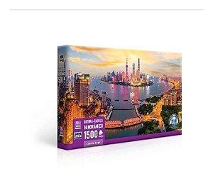 Quebra Cabeça 1500 Peças Luzes De Xangai - Toyster 2765