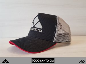 BONÉ TRUCKER ABA CURVADA BLACK AND GREY mod 0001