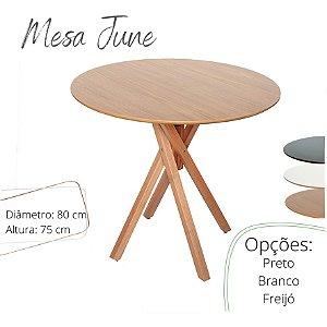 Mesa June Redonda - Freijó - 80 x 75 Cm
