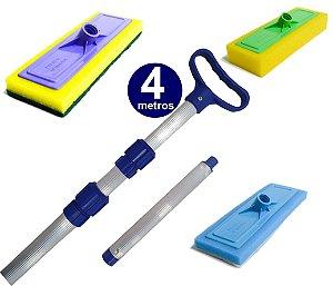 Kit De Limpeza Para Sua Casa - Limpa Vidro e Piso - Cabo 4 M