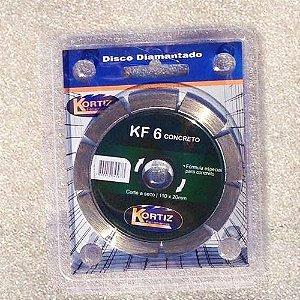 Disco de Corte - Diamantado - Kortiz - KF 6 Concreto