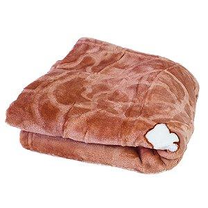 Cobertor Baby 100 x 105 - Marrom17,50