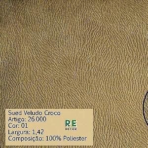 Tecido - Suede Croco para Tapeçaria