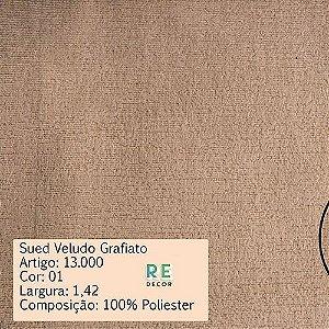 Tecido - Suede Grafiato para Tapeçaria