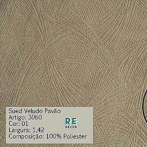 Tecido - Suede Pavão para Tapeçaria