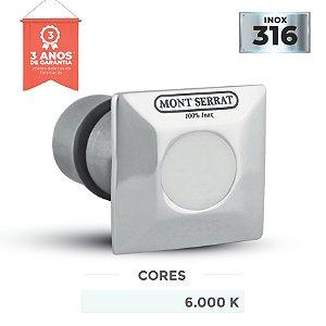 Balizador para Piscinas Inox - Super Led 1w - Encaixe Quadrado - Branco Frio 6.000k