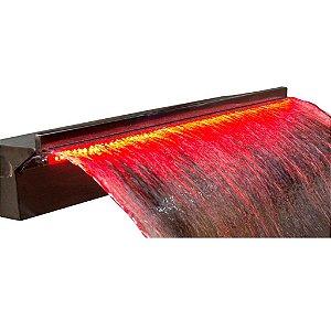 Cascata de Embutir 100 cm para Piscina com Led - Aço Inox 304
