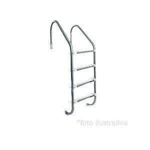 Escada para Piscina - Aço Inox 316 - 4 Degraus em Aço Inox