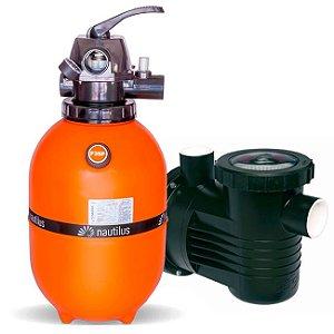 Filtro E Motobomba Para Piscinas até 36 M³ - F350p - PF-17 1/3 Cv - Mix Nautilus e Dancor