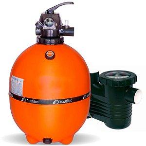 Filtro E Motobomba Para Piscinas até 95 M³ - F550p - PF-17 3/4 Cv - Mix Nautilus e Dancor