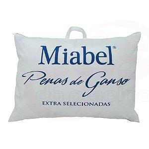 Travesseiro Tradição Macio - Azul -  Miabel   Penas De Ganso  50x70 cm